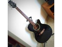 Takamine Electro Acoustic Guitar ED51C BL (black) D (Dragon) Series