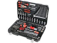 NEW YATO YT-3894 professional ratchet (72T) socket set 225 pcs. CASE !!! Low price!!