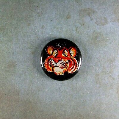 """Vintage Style Gasoline  Advertising  Pinback Button  1"""" Esso Tiger in the Tank"""