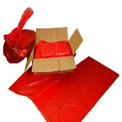 5 x Heavy Duty Red Sacks Rubbish Bin Liner Bags 150Gauge 18