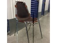 Rare Les Arcs Cognac Leather Chair by Charlotte Perriand £250