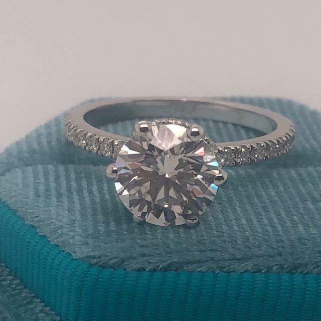 Earth-mined Diamond Engagement Ring D/vs2 3.25 Ct Round 14k White Gold