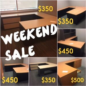 WEEKEND SALE, DESKS, OFFICE TABLES, CHAIRS, FILES