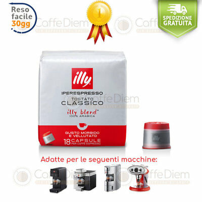 Caffè illy Iperespresso 72 Capsule Cialde Tostatura Media Rossa 100% Arabica