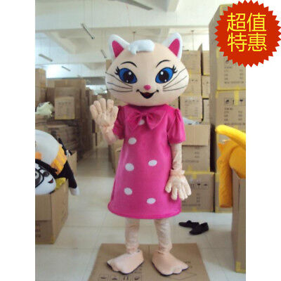 Cat Mascot Costume Parade Halloween Party Cartoon Adult Cosplay Dress Outfit - Halloween Cartoon Cats
