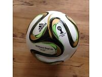 2 Brazil 2014 World Cup replica football's (one final and one normal) both size 5