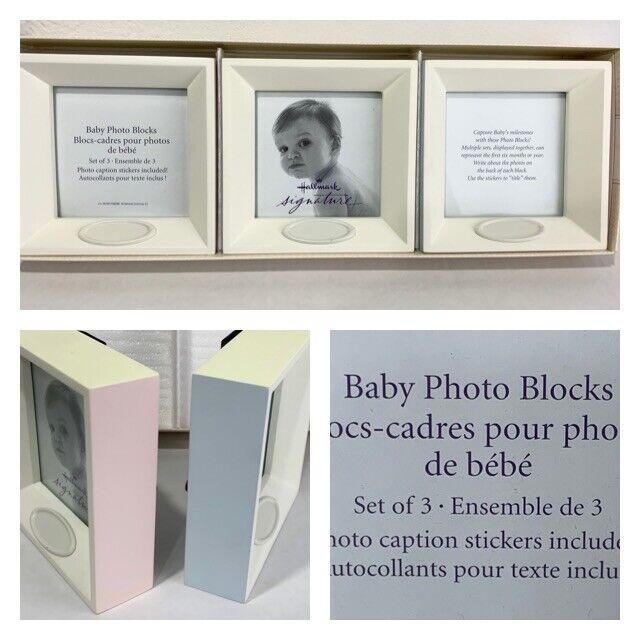 Hallmark Signature Set of 3 Baby Photo Blocks Baby