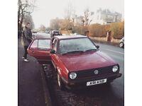 VW Golf Mk2 1990, 1.6 litre, 70,000 miles, auto