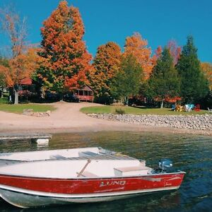 Rustic Cabin Rental - Fall Colours - Bobs Lake