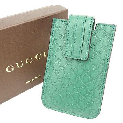 Auth GUCCI smart case cotton shima unisexused Y1033
