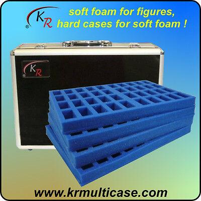KR Case, wargaming figure case & foam trays carry 160 troop, 25mm bases(E-188)