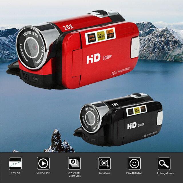 "2.7"" 1080P Full HD Camera 16X Digital Zoom Handheld Video Ca"