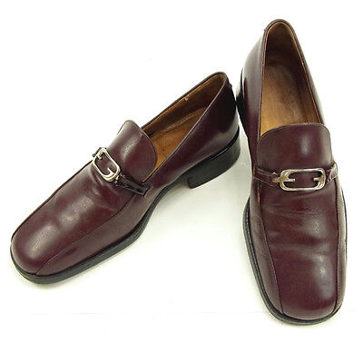 Auth GUCCI Loafer GG Mens used J12996