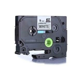 Weekly Promo! Brother TZe-221 Label Tape, 9mm (0.35), Black on White, Compatible
