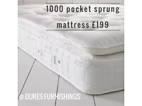 Brand new pocket sprung mattresses free delivery