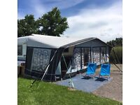 Hobby caravan, 5-berth, 2006 700UK, island bed, fantastic spacious layout, complete with new awning