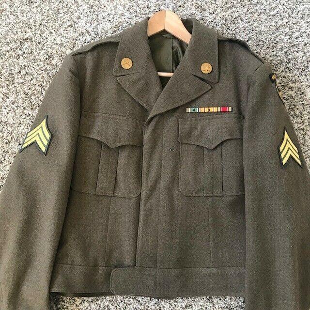 WW2 17th Airborne IKE Jacket - RARE SIZE 44L