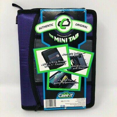Case It Mini Tab Zipper 3 Ring Binder 1 Capacity Zip Pocket Tab Sections 10 In