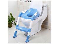 Toddler training step toilet seat