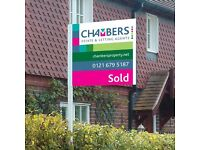 Sell your property Water Orton, Coleshill area. Fees start from £650. Call for free valuation.