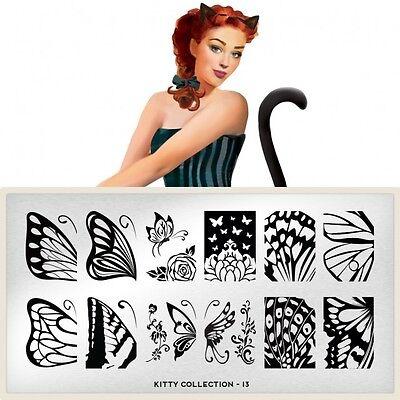 Moyou London Stamping Schablonen Plate Schmetterling Butterfly Flügel Kitty #13
