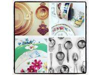 Vintage China tea set Wedding Birthday Baby Shower Anniversary