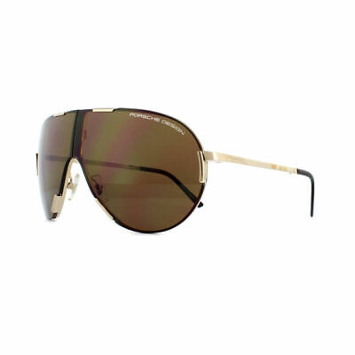 Porsche Design Folding Aviator Sunglasses - P8486 A - Gold Titanium / (Sunglasses Folding)