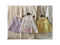 3 baby dresses - 3-6 months
