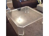 Beautiful Large Glass Coffee Table.