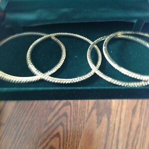 indian jewelry set of 4 gold plated studded bracelets