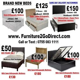 Stylish quality new bed with mattress