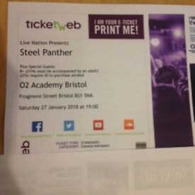 Steel Panther January 27th 2018 Bristol o2 Academy ticket
