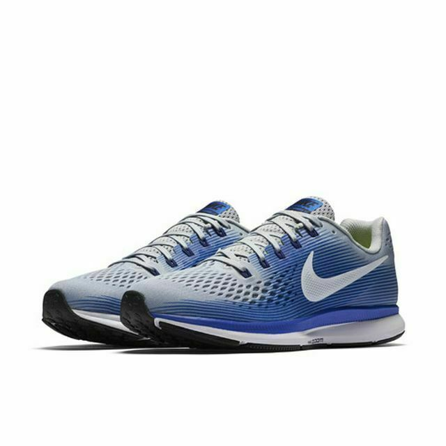 huge selection of 0f284 bebcf Nike Air Zoom Pegasus 34 Wide (4E) Running Shoes Gray Blue 880557-007 Men's  NEW