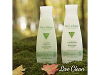 "ECO FRIENDLY ""Live Clean"" shampoo and conditioner"