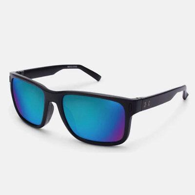 UNDER ARMOUR ASSIST SUNGLASSES SATIN BLACK FRAME / BLUE MIRROR GRAY LENS (Black And Blue Sunglasses)