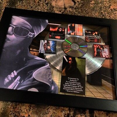 Aaliyah One In A Million Platinum Disc Record Album Music Award MTV Grammy RIAA