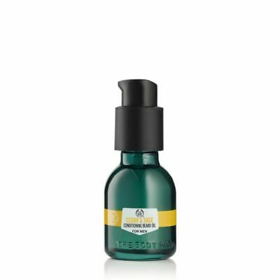 The Body Shop Cedro & Salvia Acondicionador Aceite para Barba para Hombre...