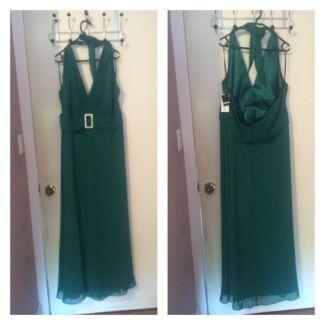 Plus size emerald formal/ bridesmaids dress