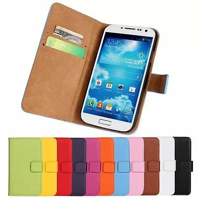Best For Samsung Galaxy S4 i9500 Genuine Leather Wallet Case Cover