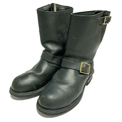 Iron Age Boots Steel Toe Work Boots Leather Mens Size 5D Riding Biker