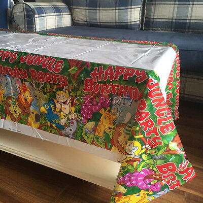 Jungle Themed Table Covers (1pcs Jungle Animal theme party supplies table cover favor kids boy girl)