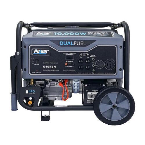 Купить Pulsar 10000W Portable Dual Fuel Propane/Gas Generator w/ Electric Start G10KBN