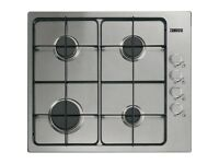 ZANUSSI 60CM STAINLESS STEEL 4 BURNER GAS HOB-NEW