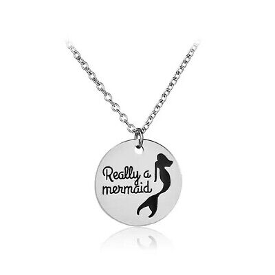 Silver Color Really a Mermaid Necklace for Girl's Birthday Gift ()