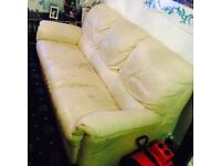 Free 2x. 3 beige leather sofa for grab