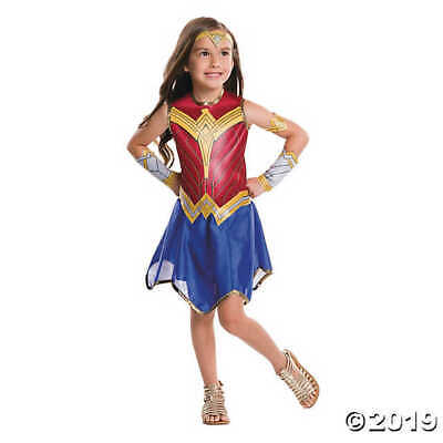 Justice League Wonder Woman Child Costume, Red/Blue/Yellow, S (4-6)