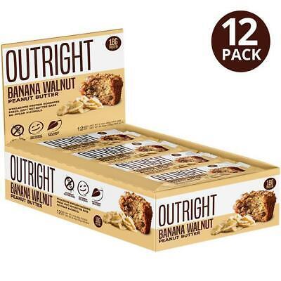 MTS Nutrition OUTRIGHT PROTEIN BAR, Box of 12 Bars, BANANA WALNUT PEANUT BUTTER