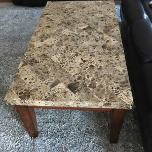 *NEW PRICE* Turkish Marble Coffee Table with Matching End Table