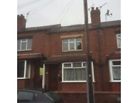 2 bed through terrace property with front and back yard in Berkeley Terrace, Harehills. DSS Accepted