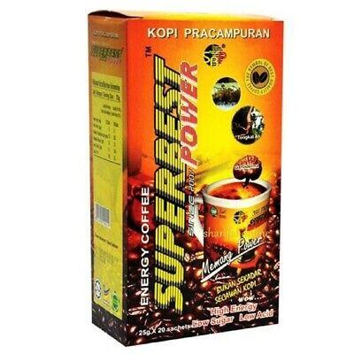 Super Best High Energy Power Coffee Natural Herbs Tongkat Ali Strongman 20s (Best Herb Tongkat Ali)